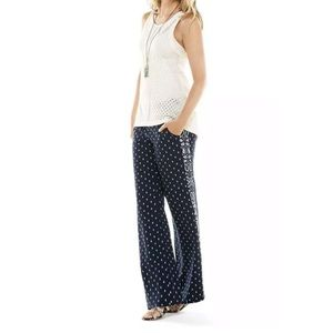 Cabi track star trousers navy paisley wide leg
